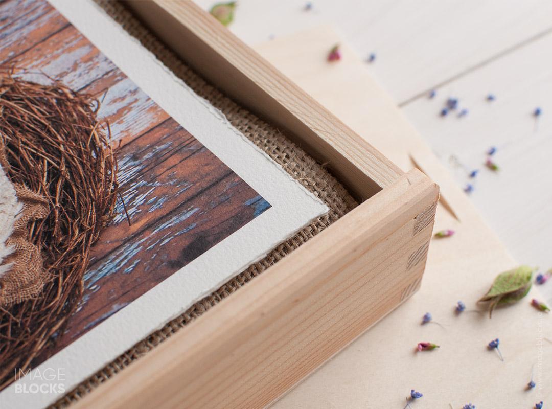 Wooden Print Presentation Boxes